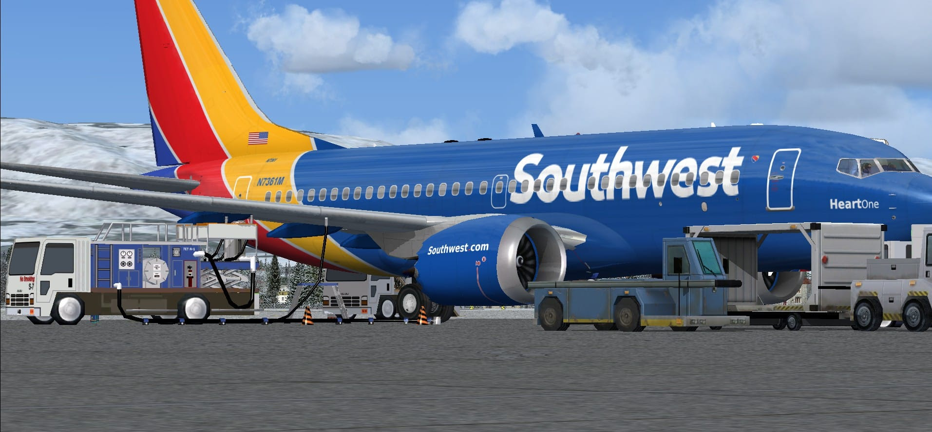 Boeing 737 MAX7 Southwest Airlines Package  Flight