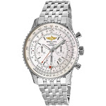 Breitling Men's AB044121-G783-453A Navitimer GMT Chronograph Stainless Steel Watch - Silver
