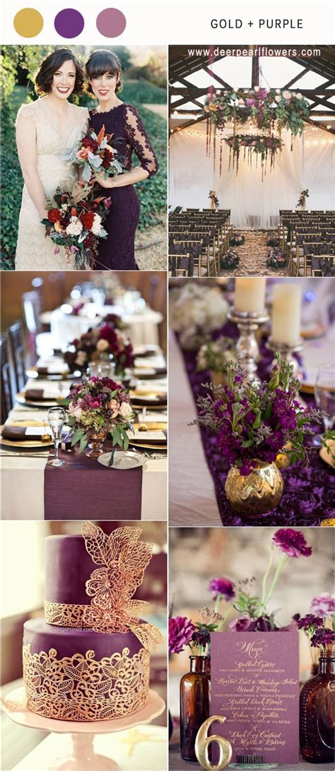 12 Hottest Gold Wedding Color Combos for 2018   Deer Pearl
