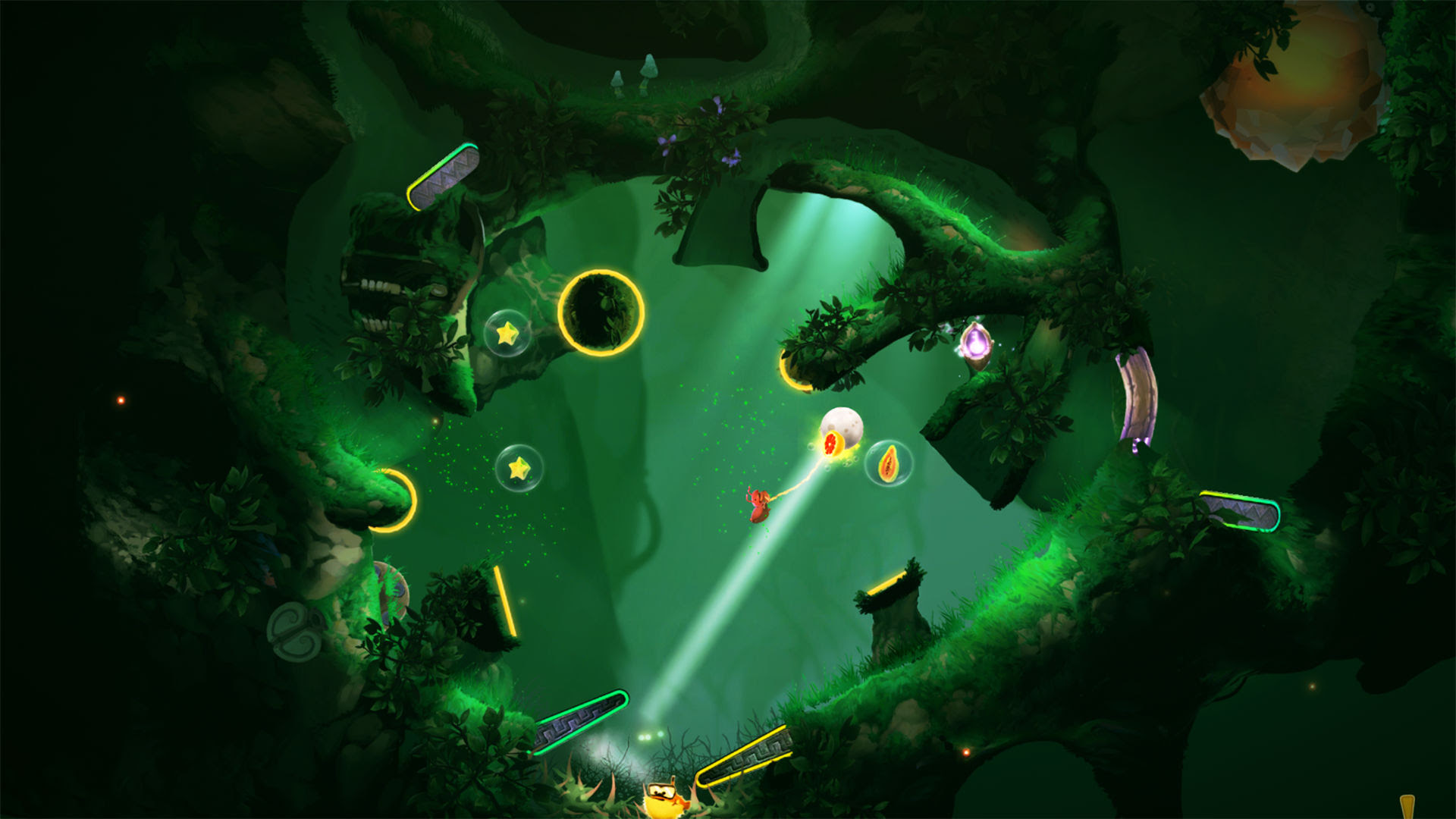Yoku's Island Express is the chillest pinball game I've ever played screenshot