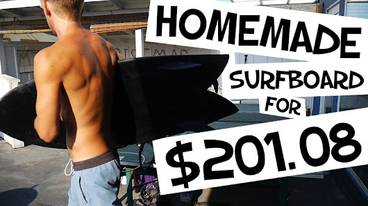 Shaping and Glassing My Fish Surfboard for $201.08 - Ho Stevie!