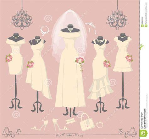 Background Of The Wedding Dresses Stock Image