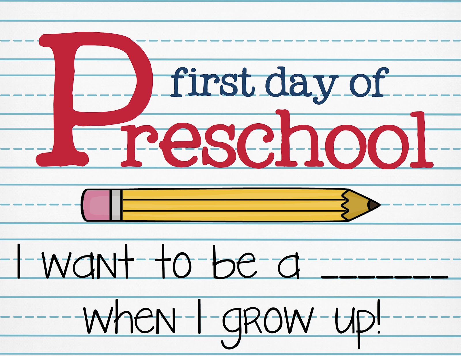 First Day Of Preschool Printables Architecture Modern Idea