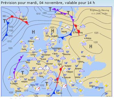 Carte Meteo Europe Aujourdhui.Carte Meteo Europe Carte