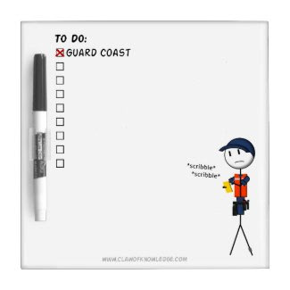 Coast Guard To-Do List Mini-Whiteboard