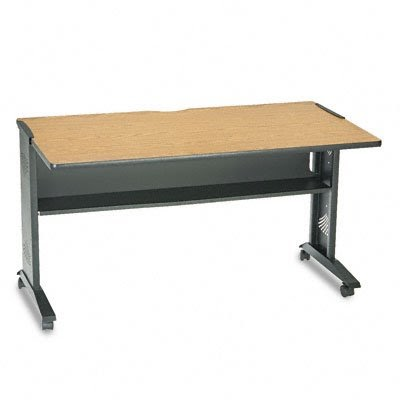 Safco 1933 54 By 28 By 30 Inch Mobile Computer Desk With