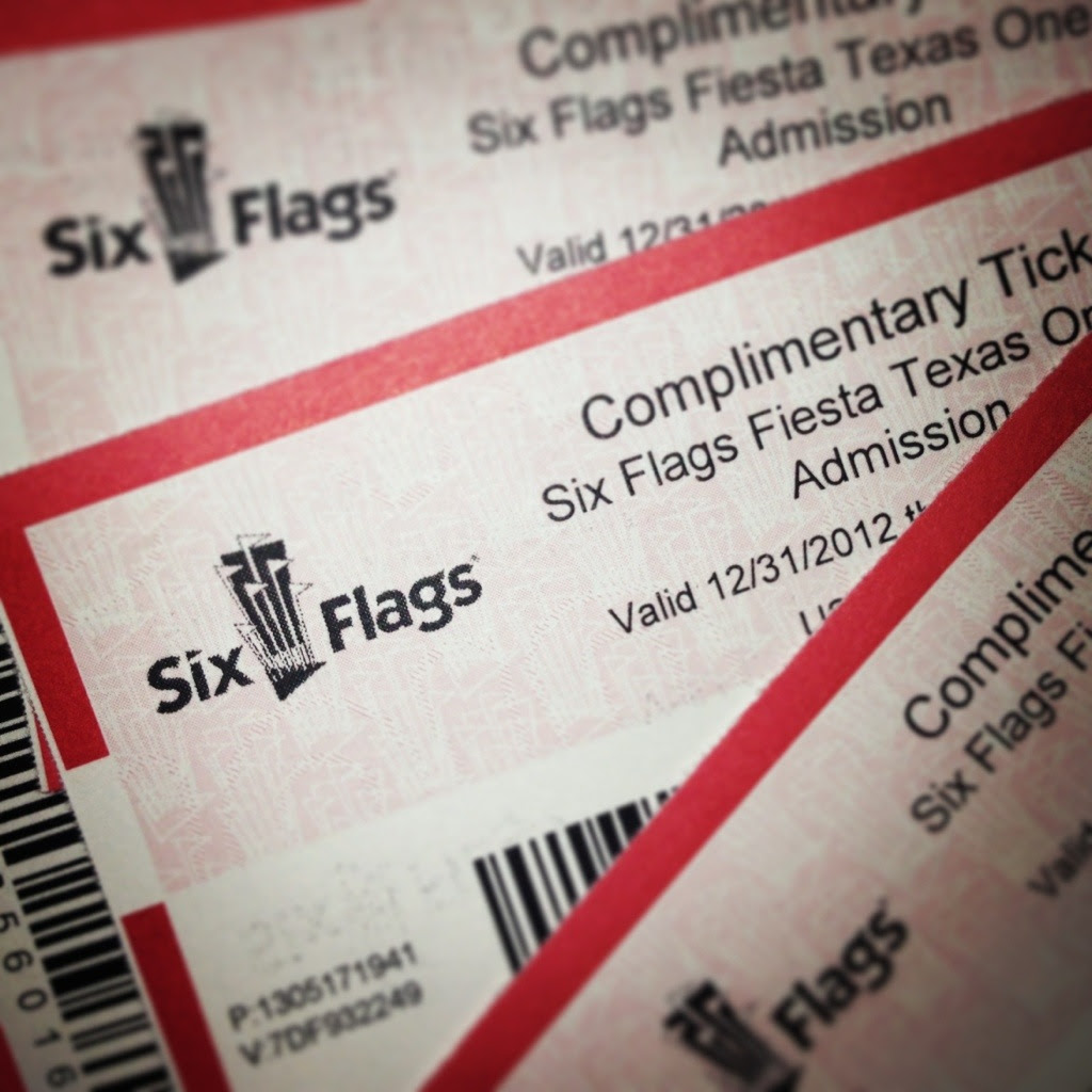 Ticket To Six Flags United Airlines And Travelling