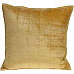 Parkland Collection Copan Transitional Yellow Solid Quilted Pillow Cover With Down Insert