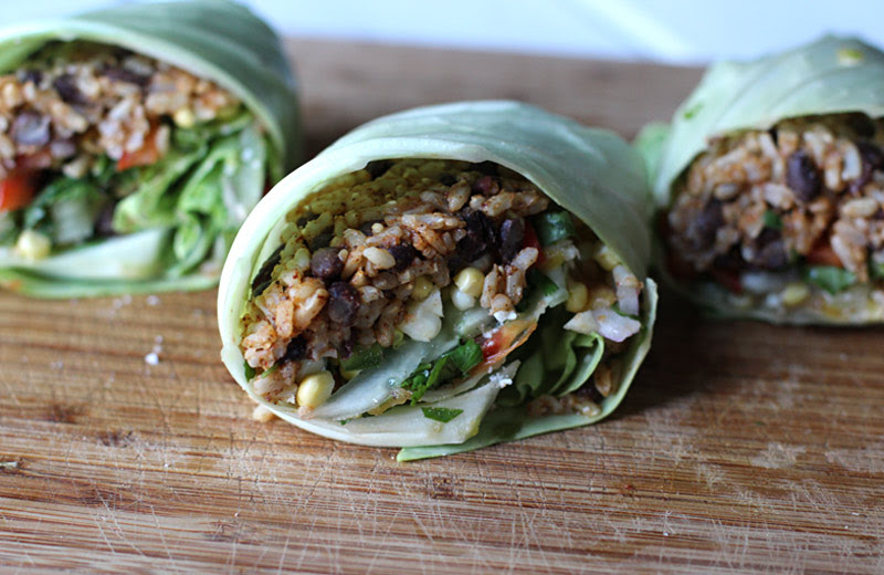 Cabbage Leaf Tacos with Fresh Chopped Salsa