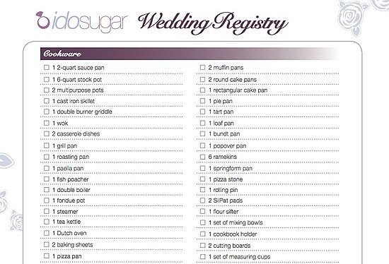 Target Wedding Registry: Target Wedding Registry List