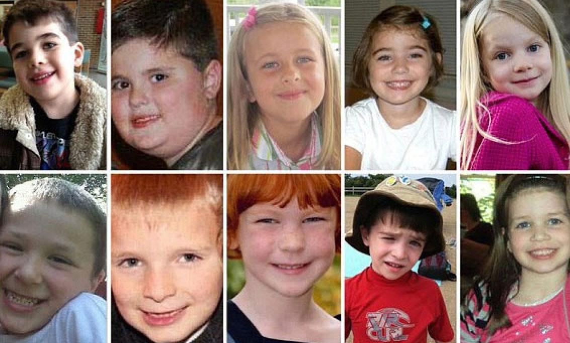 Vermeende slachtoffers van de schietpartij op de Sandy Hook school