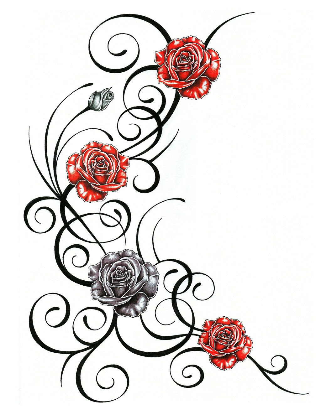 Roses Outline Free Download Best Roses Outline On Clipartmagcom