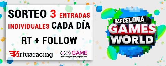 "VIRTUARACING en Twitter: ""#SORTEO ENTRADAS PARA @BCNGamesWorld 1) RT + FOLLOW a @GAMEeSports_ES & @virtuaracing 2) Responde escogiendo día #VIERNES #SABADO #DOMINGO """