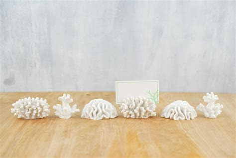 Place Card Holder Coral (Set of 6)