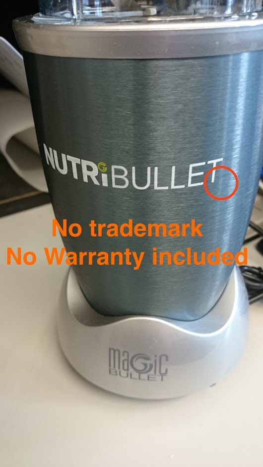 How to spot a fake NutriBullet - The hard way