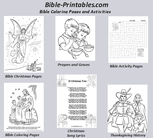 Bible Coloring Pages, Christian Activity sheets, Prayers and Graces, Song Lyric sheets| Bible-Printables