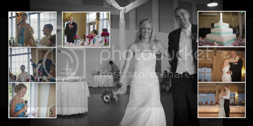 Reception Speeches and Dances Wedding Album Layout