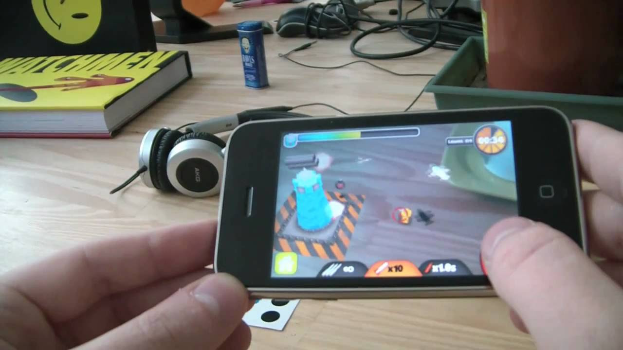 ARDefender: iPhone Augmented Reality game by int13 - YouTube
