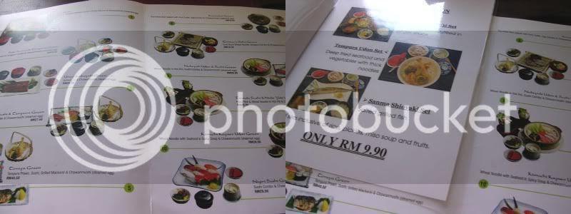 Toraya menu
