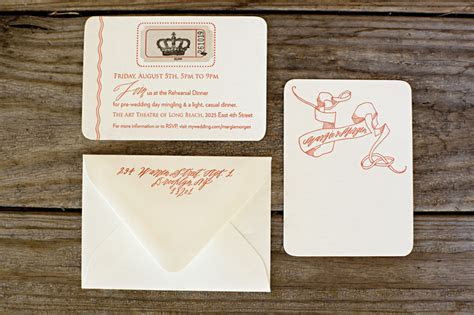 blackbird letterpress: Margie & Morgen's Queen Mary wedding