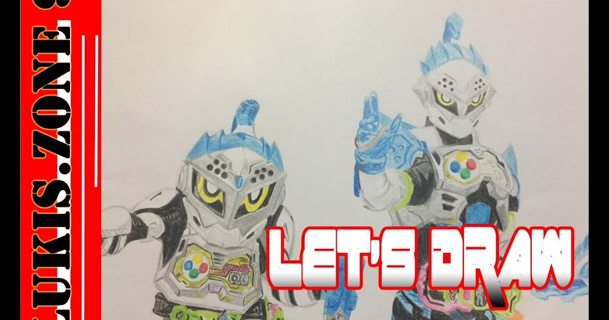 Gambar Kamen Rider Ex Aid Untuk Mewarnai Tempat Berbagi Gambar