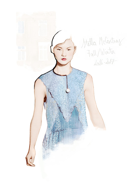 Stella McCartney PRÊT-À-PORTER AUTOMNE-HIVER 2016-2017         |          Ëlodie | Fashion illustrator, Paris