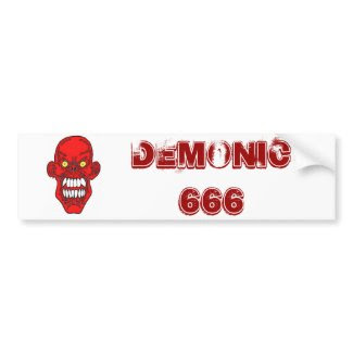 Satan Devil Art bumpersticker