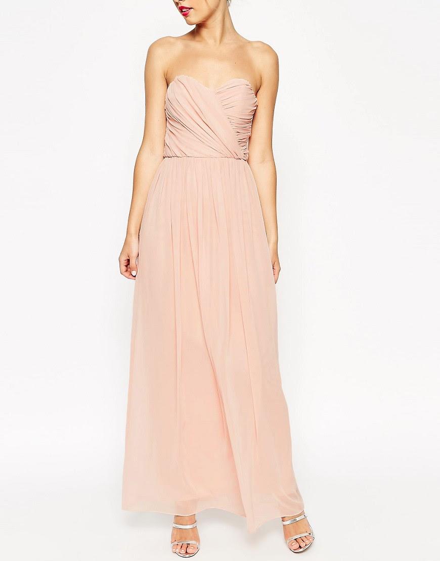 asos  asos wedding bandeau maxi dress at asos