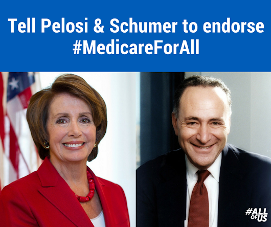 Tell Pelosi and Schumer to support Bernie's #MedicareForAll bill