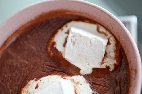 hot cocoa and marshmallows
