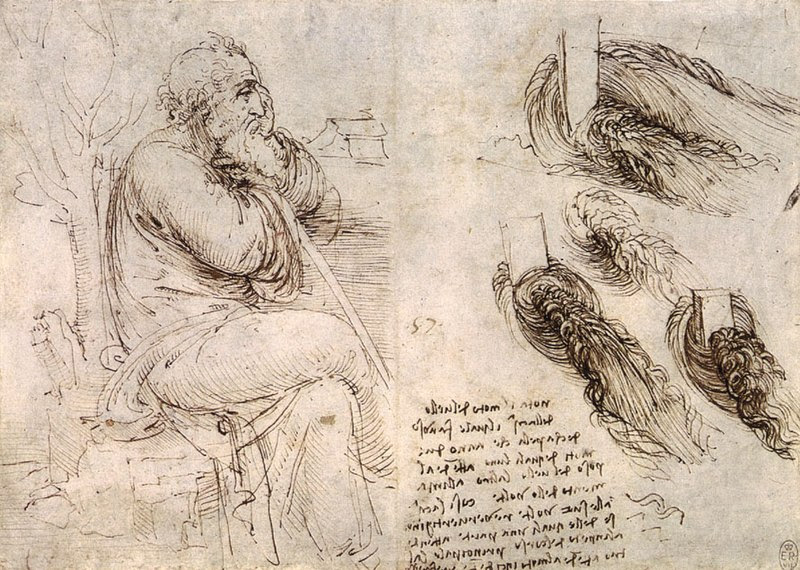 Archivo:Old Man with Water Studies.jpg