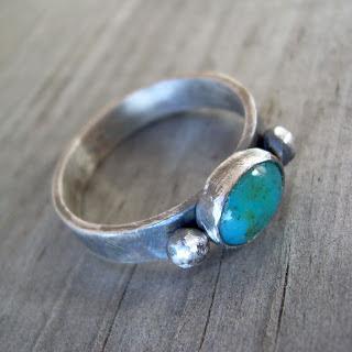 chrysocolla ring silver
