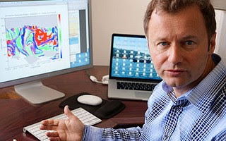Igor Mezic, professor of mechanical engineering, displays a graph produced by his researchers.