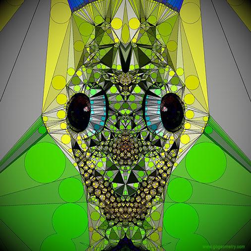 Geometric Art: Kaleidoscope of Gecko Patterns 4 using iPad Apps, Software.