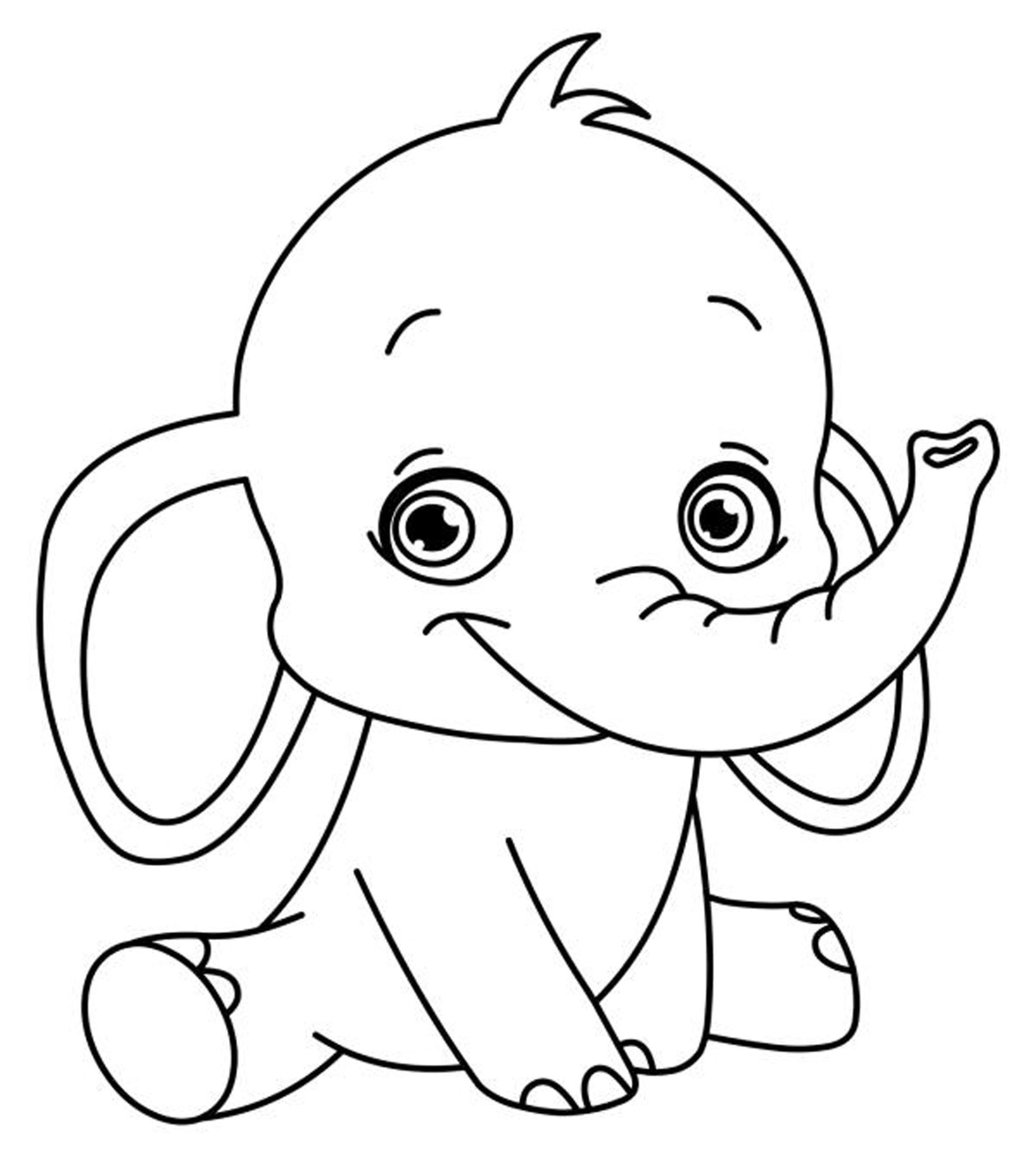 Easy Coloring Pages Printable - Coloring Home