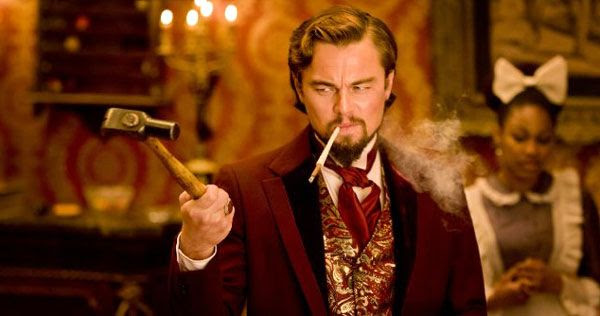 Leonardo DiCaprio plays plantation owner Calvin Candie in DJANGO UNCHAINED.