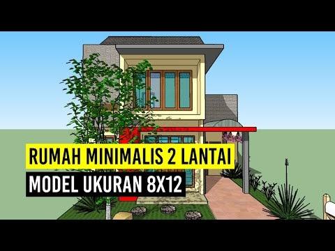 top rumah minimalis 2 lantai model ukuran 8x12, video