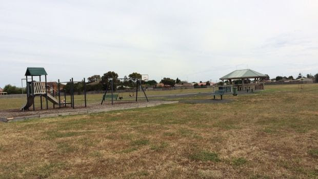 The Geelong park where police allege the four men approached the girl and her friend.