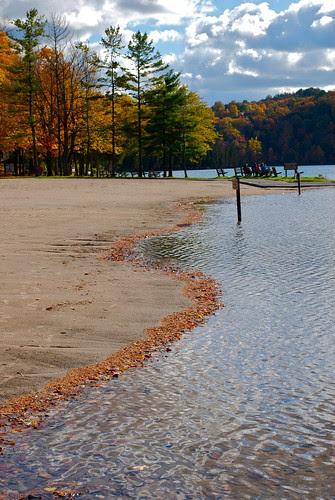 Just the shoreline receding