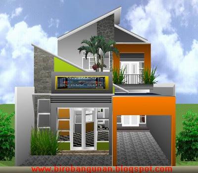 denah rumah minimalis 2 lantai type 250