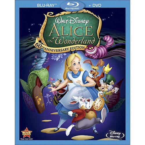 Disney: Alice in Wonderland, 60th Anniversary Edition, 2-Disc [Blu-Ray/DVD]