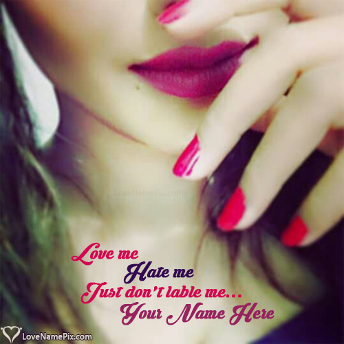 Write Name On Stylish Girly Images With Quotes Picture