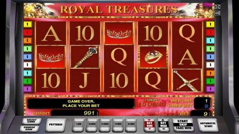 Официальный игровой автомат royal treasures novomatic тото муж