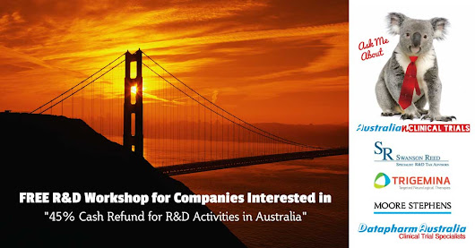 Free Workshop in San Francisco on Australia's R&D Tax Incentive - Datapharm Australia
