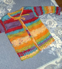 Pikkutytön takki Puro batikista (98-110cm?)