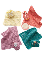 Facecloths & Soap Sacks Crochet Pattern - Electronic Download