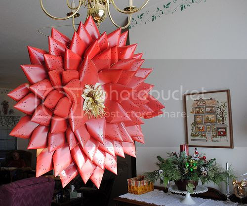 Holiday Decor 1960's style..... the computer card wreath