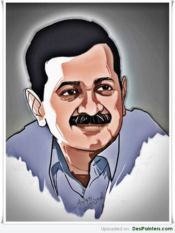 Digital Painting Of Arvind Kejariwal