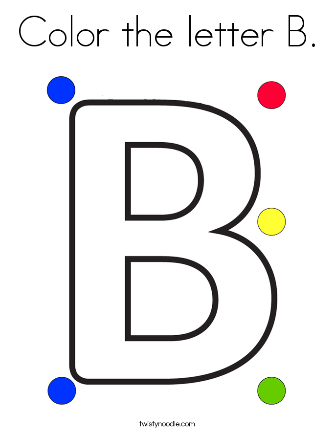 Color the letter B Coloring Page  Twisty Noodle
