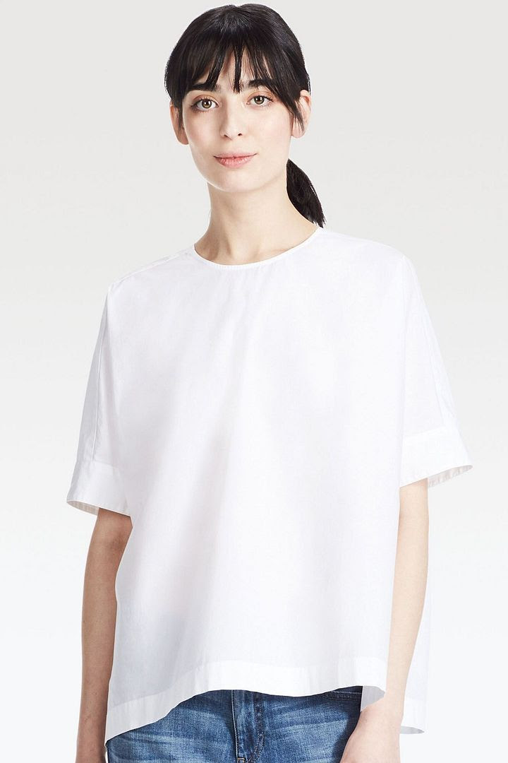Uniqlo Extra Fine Cotton Short-Sleeve T Blouse